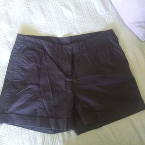 Willi Smith chocolate brown mid-length shorts